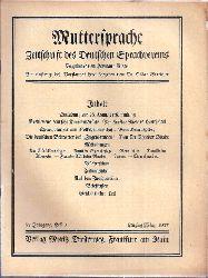 Muttersprache  Muttersprache 42.Jahrgang, Heft 3 Lenzing / März 1927