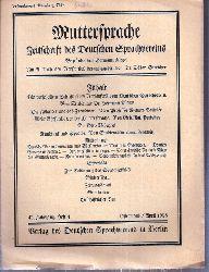 Muttersprache  Muttersprache 43.Jahrgang, Heft 4 Ostermond / April 1928