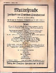Muttersprache  Muttersprache 43.Jahrgang, Heft 8/9 August / September 1928