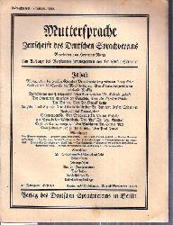 Muttersprache  Muttersprache 43.Jahrgang, Heft 8/9 August / September 1928