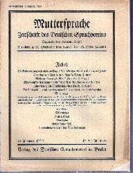 Muttersprache  Muttersprache 43.Jahrgang, Heft 7 Heuet / Juli 1928