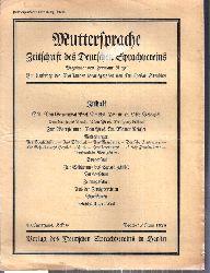 Muttersprache  Muttersprache 43.Jahrgang, Heft 6 Brachet / Juni 1928