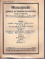 Muttersprache  Muttersprache 43.Jahrgang, Heft 5 Mai 1928