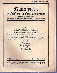 Muttersprache  Muttersprache 43.Jahrgang, Heft 1 Eismond / Januar 1928