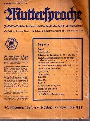 Muttersprache  Muttersprache 50.Jahrgang, Heft 11 Nebelmond / November 1935