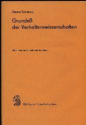 Tembrock,Günter  Grundriß der Verhaltenswissenschaften