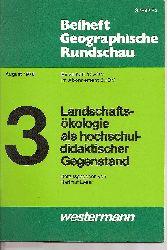 Beiheft Geographische Rundschau  August 1976