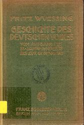 Wuessing,Fritz  Geschichte des deutschen Volkes vom Ausgang des 18.Jahrhunderts