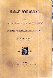 Leydig,Franz  Horae Zoologicae zur Vaterländischen Naturkunde