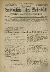 Badische Landwirtschaftskammer (Hsg.)  Badisches Landwirtschaftliches Wochenblatt Jahr 1914, Heft Nummer 1