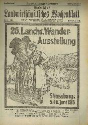 Badische Landwirtschaftskammer (Hsg.)  Badisches Landwirtschaftliches Wochenblatt Jahr 1913, Heft Nummer 1