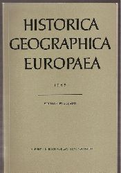 Historica Geographica Europaea  Historica Geographica Europaea 1969