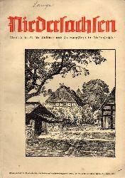 Niedersachsen Monatsschrift für Kultur-  Niedersachsen 45.Jahrgang 1940 Heft Juni