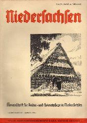 Niedersachsen Monatsschrift für Kultur-  Niedersachsen 39.Jahrgang 1934 Heft März