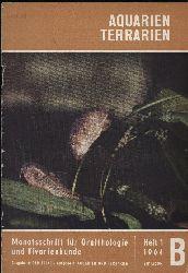 Aquarien Terrarien  Heft 1 und 6.Jahr 1964 (2 Hefte)