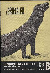 Aquarien Terrarien  Heft 6,Jahr 1963