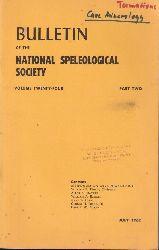 The National Speleological Society  Bulletin of the Volume National Speleological Society Vol.Twenty-Four.