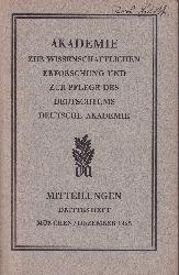 Akademie zur Pflege des Deutschtums  Mitteilungen der Akademie zur Pflege des Deutschtums Drittes Heft 1925