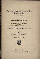 Berghoff,Joseph Ernst aus Witten  Die philologischen Schriften Bonivards (1493-1570)