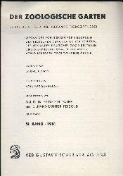 Der Zoologische Garten,  Zeitschrift für die gesamte Tiergärtnerei 51.Band(1981) nur Register,