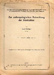 Weninger,Josef  Zur anthropologischen Betrachung der Irisstruktur