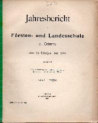 Gehlert,Kurt  Jahresbericht der Fürsten- und Landesschule zu Grimma über das