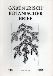 Arbeitsgemeinschaft Botanischer Gärten e.V.  Gärtnerisch-Botanischer Brief Nr. 113 Jahr 1993