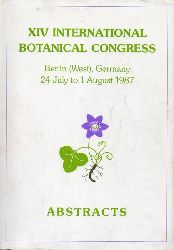 Abstracts  XIV.International Botanical Congress.Berlin(West),Germany 24 July to 1