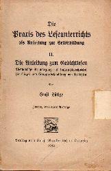 Lüttge,Ernst  Die Praxis des Leseunterrichts als Anleitung zur Selbstbildung II