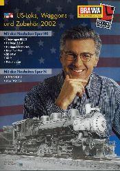 BRAWA GmbH & Co.  US-Loks, Waggons und Zubehör 2002