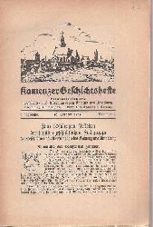 Geschichts- und Altertumsverein Kamenz (Hsg.)  Kamenzer Geschichtshefte 6.Jahrgang 1934 (3 Hefte)