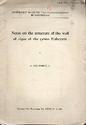 Iterson jr,G.van  Notes on the structure of the wall of algae of the genus Halicystis