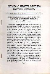Reis Altschul,Siri von  Ethnogynecological Notes in the Harvard University Herbaria