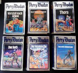 """Perry Rhodan     6 Bänden in silberner  Ausführung mit 3 D - Deckelbild  :  Der Anti """" + """" Der kosmische Lockvogel """" + """" Das rote Universum """"   + """" Der Robotregent """" + """" Thora """" + """" Vorstoß nach Arkon """" Einzelverkauf möglich   """""""