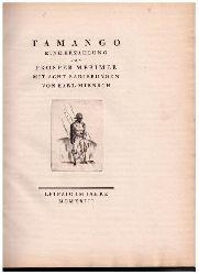 """Merimee , Prospor  - Miersch , Karl   Merimee , Prospor  - Miersch , Karl   """" Tamango  ( nummeriertes Exemplar,  11 von 200 , gedruckt für Prof.Dr. Loubier!! ) """""""