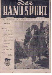 """Hrsg.  Sektion Kanu der DDR   """" Der Kanusport  1955 Einzelheftverkauf möglich - siehe Beschreibung!  """""""