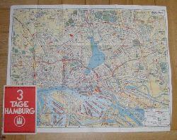 """Hrsg. """" Stadt Hamburg """"  """" 3 Tage Hamburg -  Kleiner Führer durch Hamburg """""""