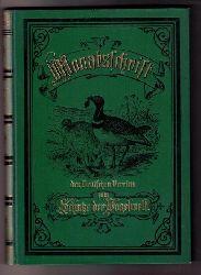 """Hrsg. Schlechtendal,E.von ( Mitarbeiter : Thienemann , Prof.Dr. Liebe,Dr.rey,Dr.Dieck,Dr.Frenzel )   """" Monatsschrift des Deutschen Vereins zum Schutze der Vogelwelt - 1895"""""""