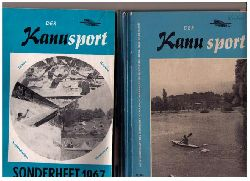 """Hrsg.  Deutscher Kanu - Sport - Verband   """" Der Kanusport  - Mitteilungsblatt des Deutschen Kanu - Sport - Verbandes im Deutschen Turn - und Sportbundes 1965  - 12. Jahrgang vollständig !!  + 1 Zugabe """""""