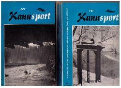 """Hrsg.  Deutscher Kanu - Sport - Verband   """" Der Kanusport  - Mitteilungsblatt des Deutschen Kanu - Sport - Verbandes im Deutschen Turn - und Sportbundes 1963  - 10. Jahrgang vollständig !!  MIT dem dazugehörigen Sonderheft """""""