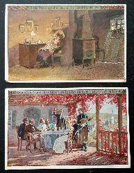 """Paul Hey  """" Ansichtskarte  Schlaf Herzenssöhnchen , mein Liebling bist Du     (Volksliederkarte Nr. 50 ) + Zugabe Karte Nr. 43"""""""
