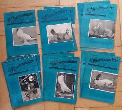 Hrsg. Autorenkollektiv   Thüringer  Kleintierzücher - Mitteilungsblatt der Rassegeflügel ( Tauben ),  Kaninchen, Ziegen, Pelztier und Rassehundezüchter - vollständiger Jahrgang 1953