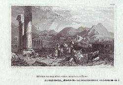 PALMYRA, SYRIA / Ruinen von Palmyra (Thadmor) in der Wüste in Syrien