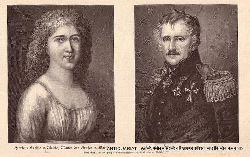 MOLTKE, Friedrich Philipp Victor von Moltke (1768-1845) Militär UND Henriette Sophievon Moltke geborene Paschen (1776-1837), Eltern von Helmuth Karl Bernhard Graf von Moltke (1800-1891) General