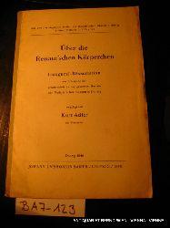 Adler, Kurt:  Über die Renaut