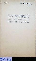 Festschrift zum 70. Geburtstag von Prof. Dr. F. ANGEL. (Mineralogische, petroraphische, geologische und lagerstättenkundliche Beiträge aus dem Ostalpenraum) (=CARINTHIA II 20. Sonderheft)..
