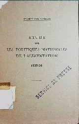 Societe des Nations Etude sur les politiques nationales de l