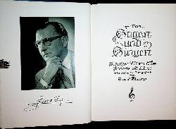 Klein, Hans:  Vom Sagen und Singen. Gedanken in Wort und Ton ; Gedichte und Lieder gestaltet und in Ton gesetzt von Hans Klein