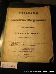 LEUTSCHAU- Programm des Evang. Obergymnasiums zu Leutschau für das Schuljahr 1860-61