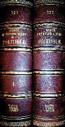 BLOCK, Maurice:  Dictionnaire général de la politique. 2 Bände 2 Tomes.